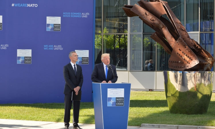 Dedication of the 9/11 and Article 5, and Berlin Wall Memorials – Meeting of NATO Heads of State and Government in Brussels